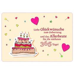 Liebe Glückwünsche zum Geburtstag und das Allerbeste für die nächsten 365 Tage!
